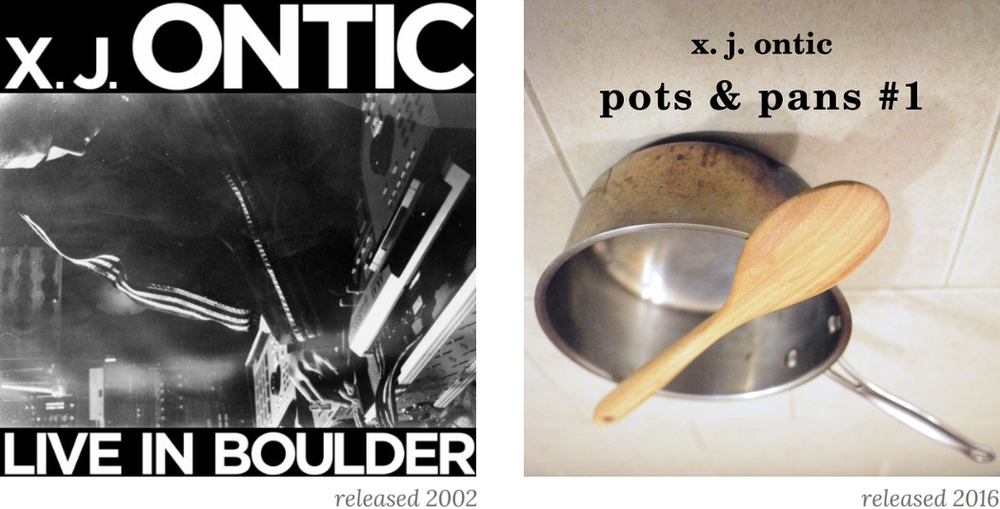 """Live in Boulder"" released 2002. ""Pots and Pans #1"" released 2016."